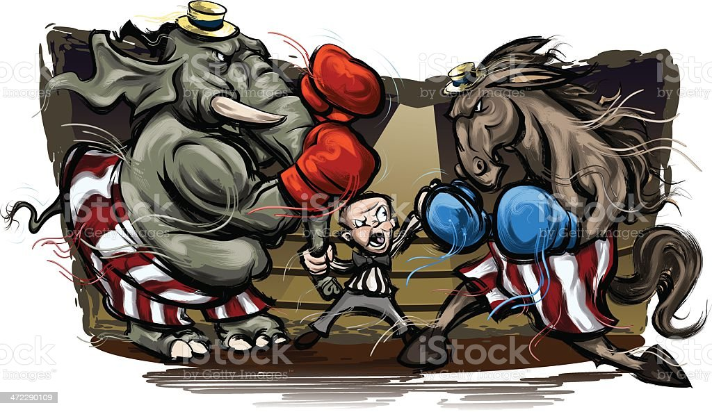 Political Election Grudge Match royalty-free political election grudge match stock vector art & more images of american culture