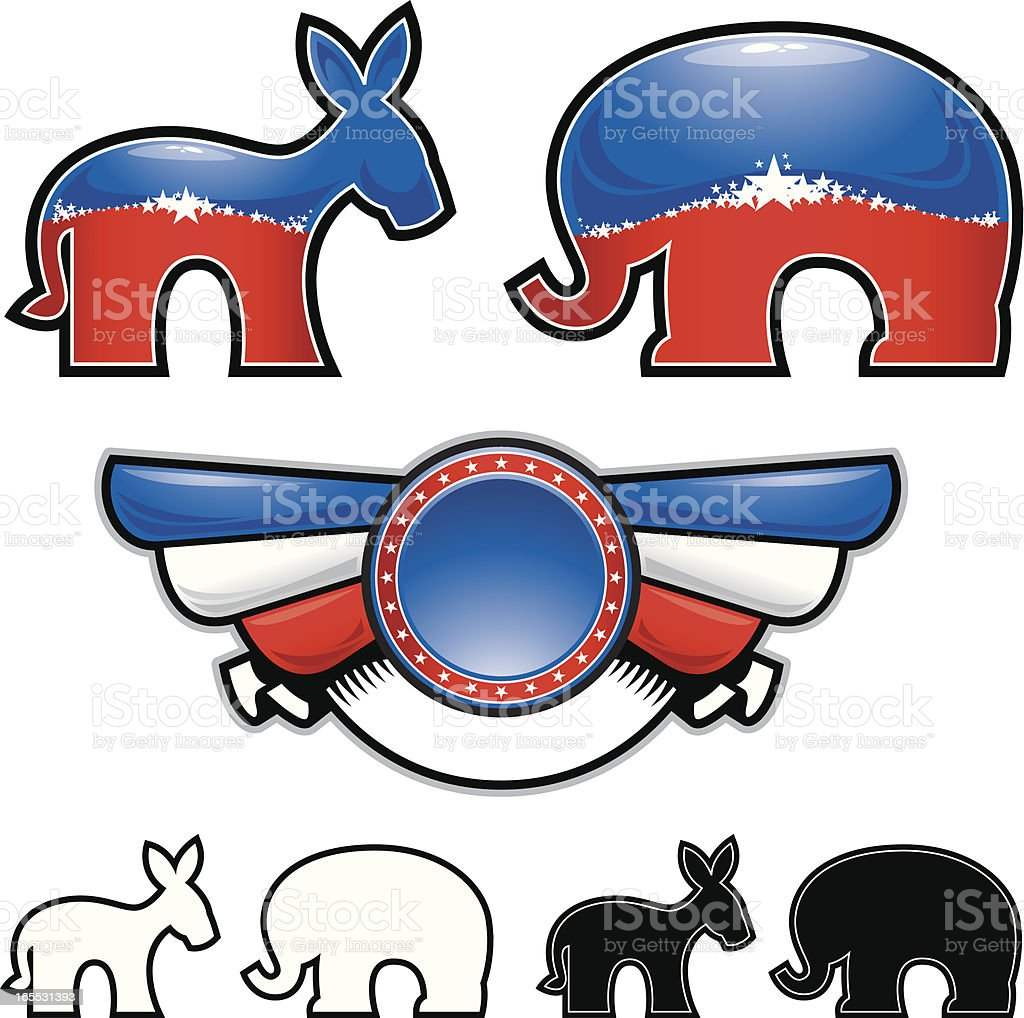 Political Elements vector art illustration