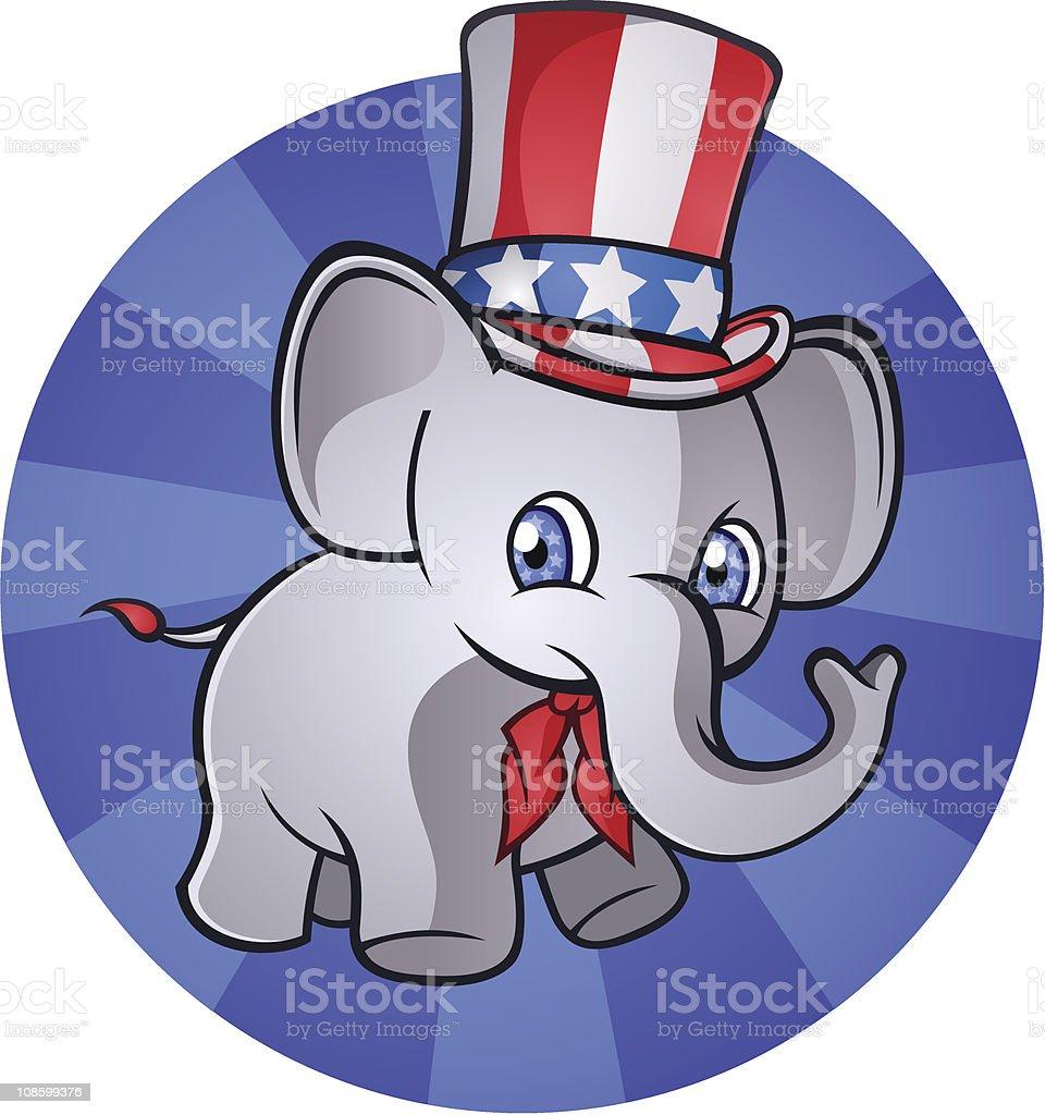 Political Elephant royalty-free stock vector art