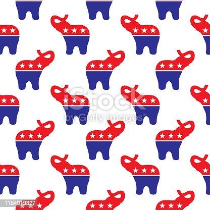 Political Elephants Seamless Pattern