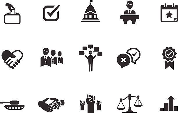 ilustrações, clipart, desenhos animados e ícones de ilustração de ícones políticos - político