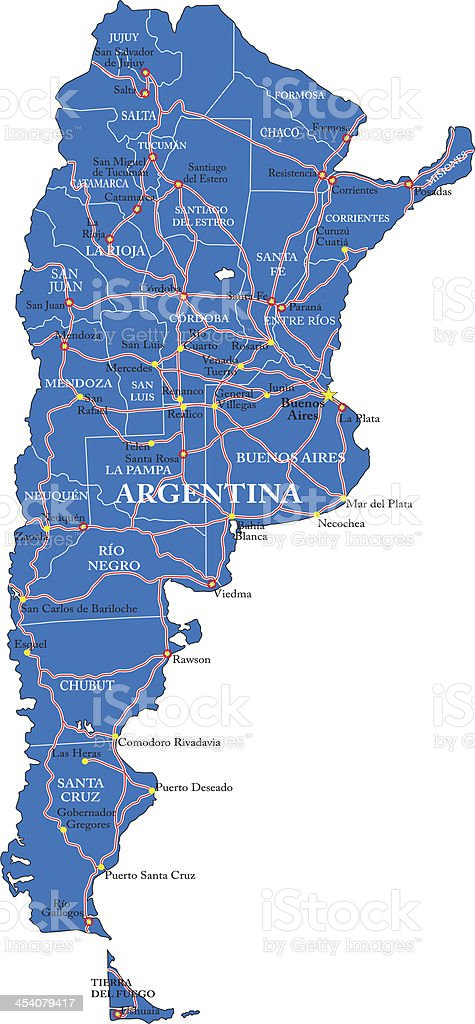 Political map of Argentina royalty-free political map of argentina stock vector art & more images of argentina