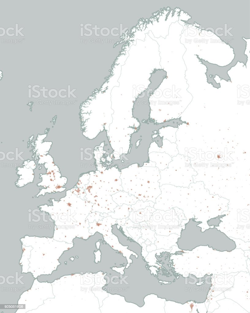 Political Map Of Europe And Africa European Cities Political Map ...