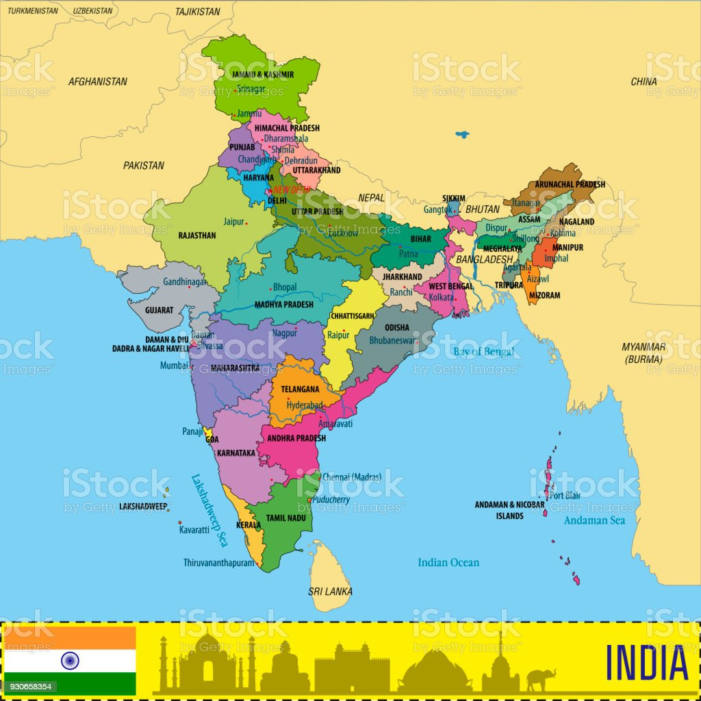 political map of india with all states royalty free political map of india with all