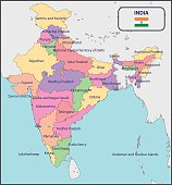 Political Map of India with Names