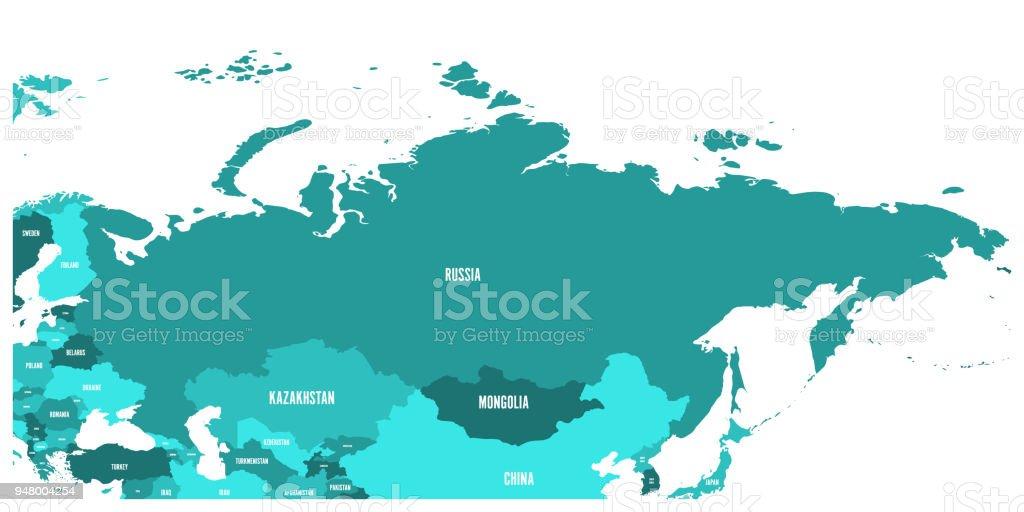 Karte Russland Asien.Politische Karte Von Russland Und Den Umliegenden Ländern Europas