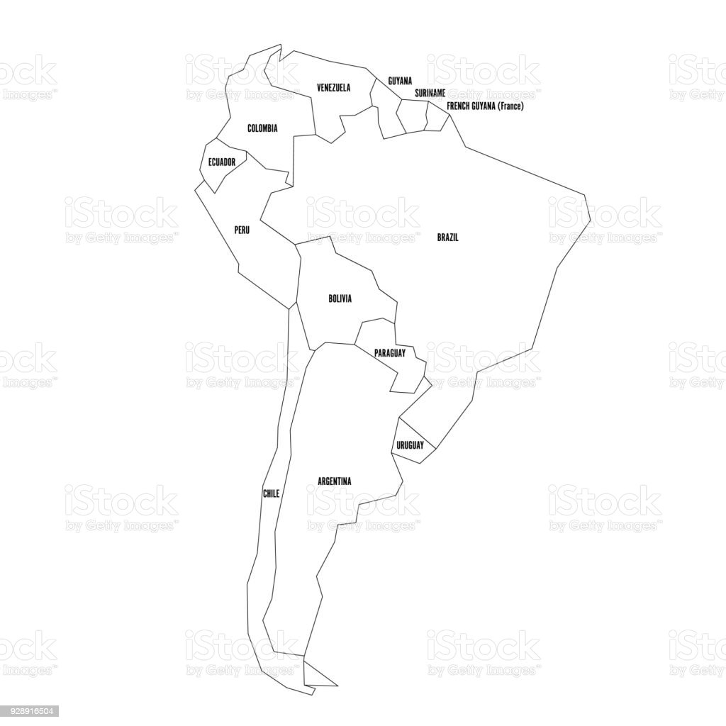 Blank South America Map - Mr. Petrosino's classroom website