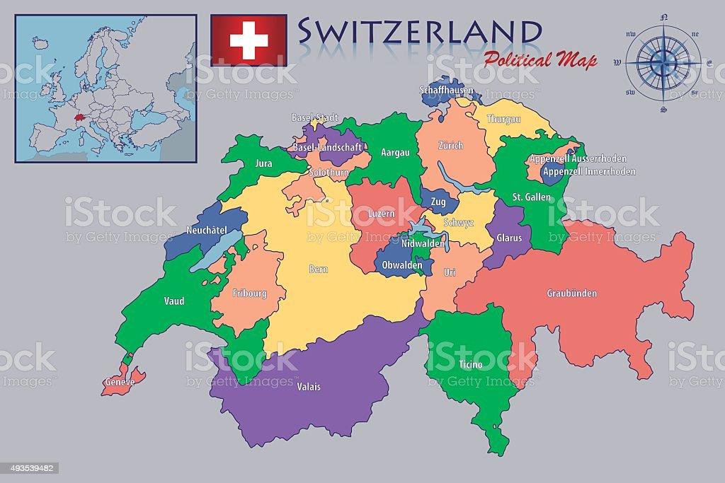 Svizzera Cartina Geografica Politica.Mappa Politica Della Svizzera Immagini Vettoriali Stock E Altre Immagini Di 2015 Istock