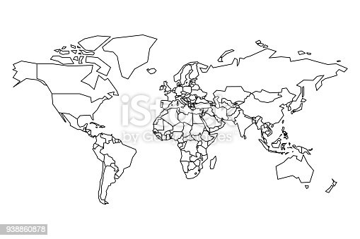 Political Map Of World Blank Map For School Quiz