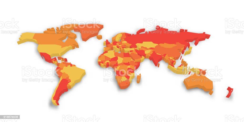 3d political map of world vector illustration stock vector art 3d political map of world vector illustration royalty free 3d political map of world gumiabroncs Images
