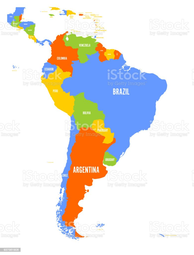 Political vector map of south america stock vector art more images political vector map of south america royalty free political vector map of south america stock gumiabroncs Choice Image