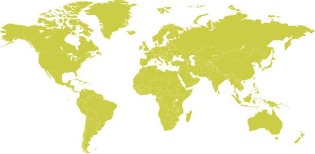 政治世界地圖向量卡通插圖 - 國際比賽 幅插畫檔、美工圖案、卡通及圖標