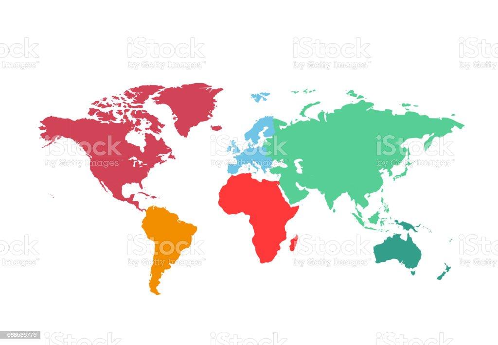 Political World Map vector Illustration. vector art illustration