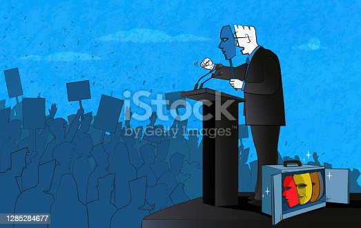 istock Politician and Masks 1285284677