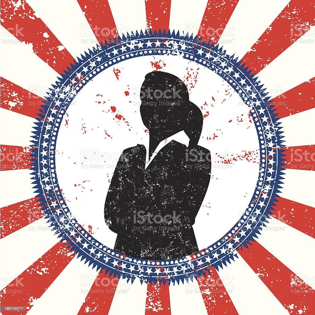 politician election button vector art illustration
