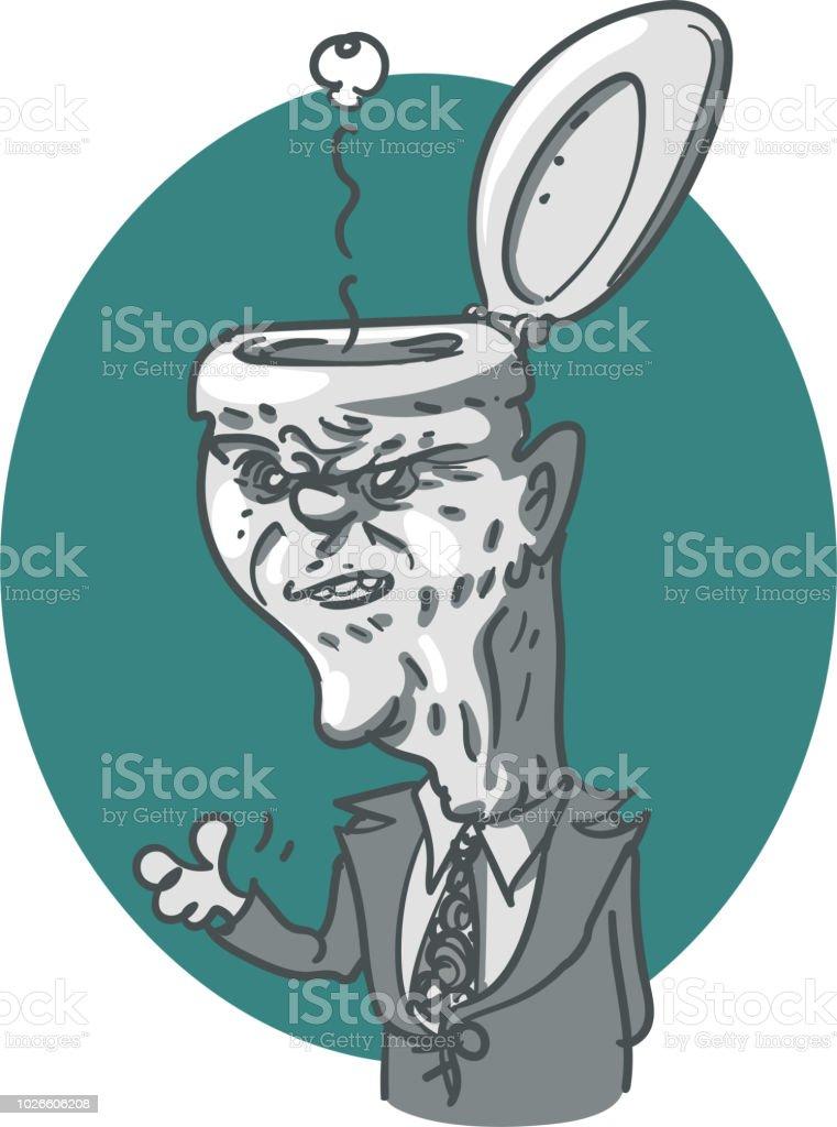 Ilustración De Ilustración De Vector Político Aseo Cabeza De Dibujos