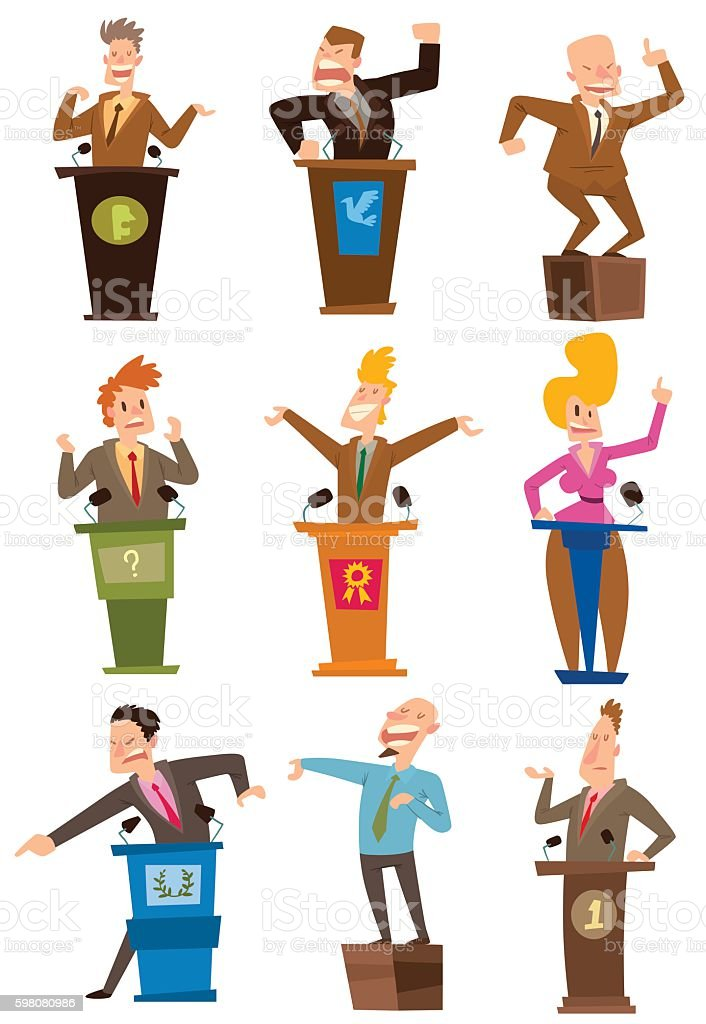 Politicians people vector set. vector art illustration