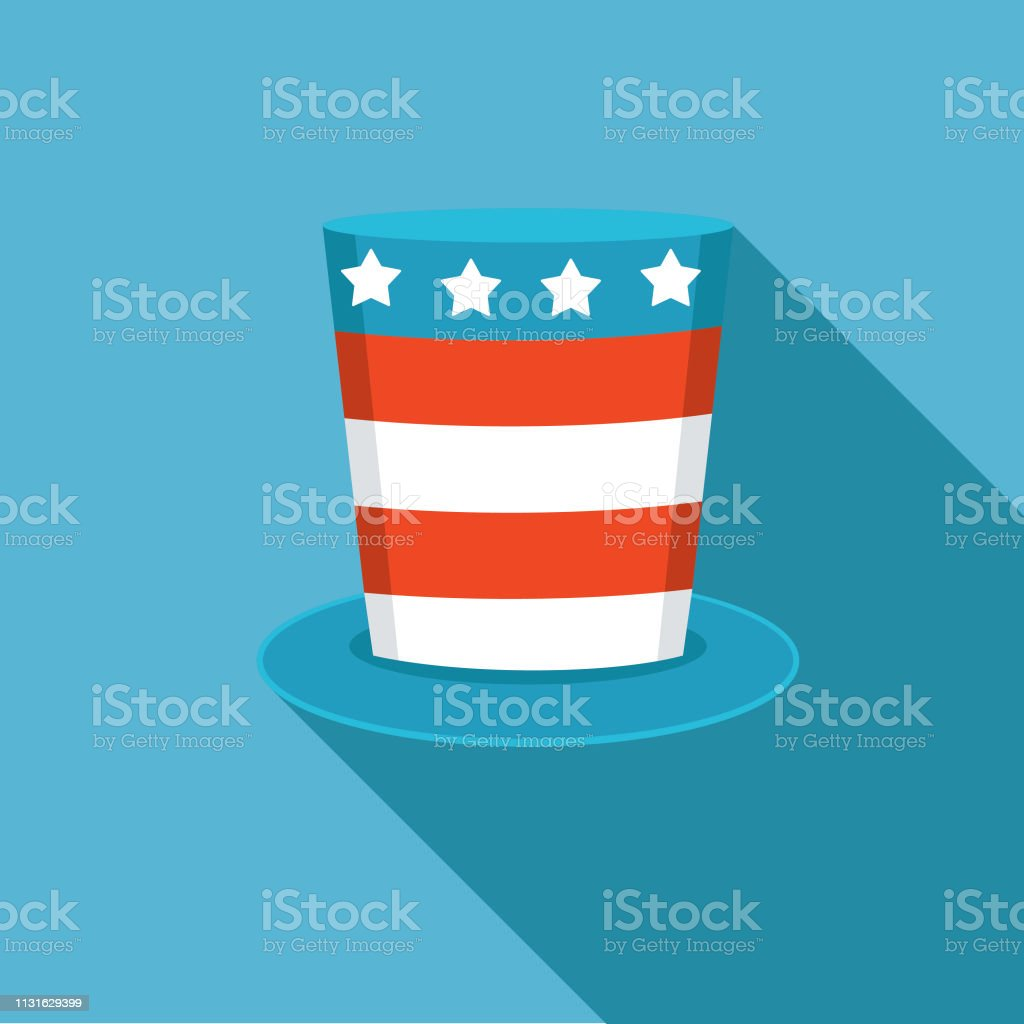 Elections and political icons in flat design style. Stars And Stripes...