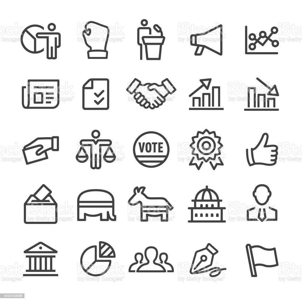 Politics Icons - Smart Line Series vector art illustration
