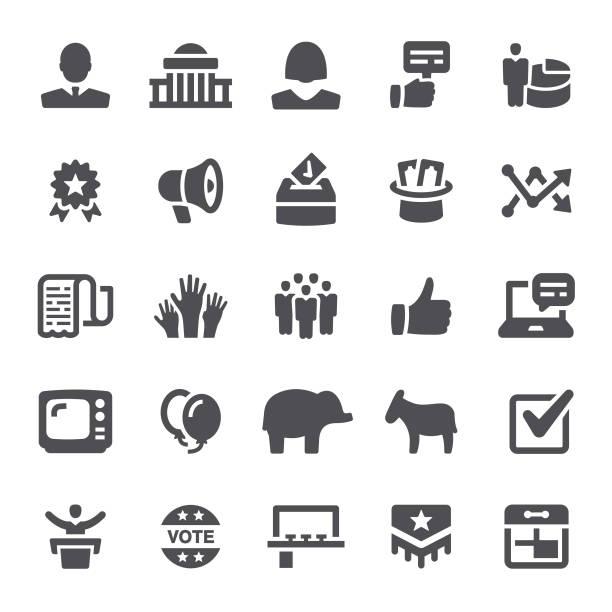 정치 아이콘 - 정치와 정부 stock illustrations