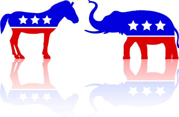 Politics in America Politics in America. party conference stock illustrations