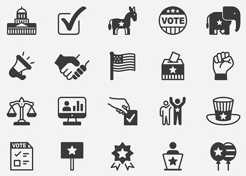Politics Pixel Perfect Icons