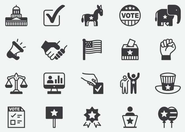 Politics Pixel Perfect Icons Politics Pixel Perfect Icons us president stock illustrations