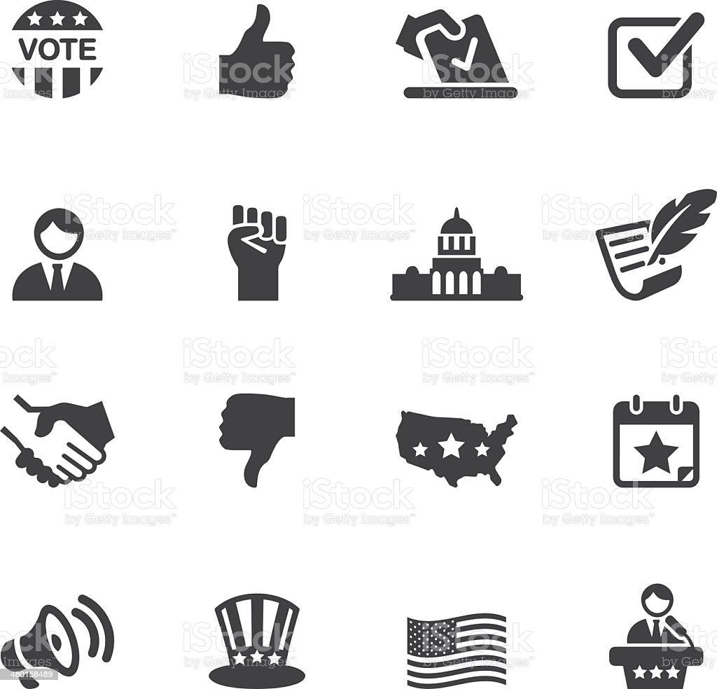Politics Silhouette Icons 1 vector art illustration