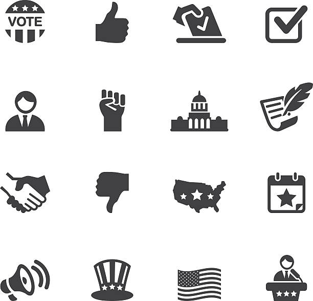 stockillustraties, clipart, cartoons en iconen met politics silhouette icons 1 - historisch document
