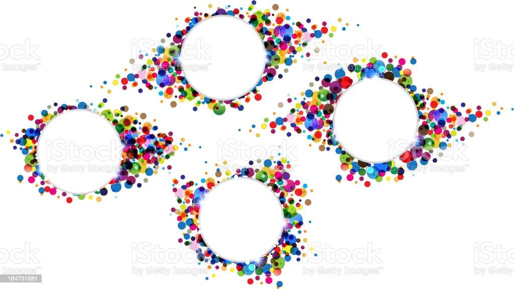 Polka dot backgrounds royalty-free stock vector art