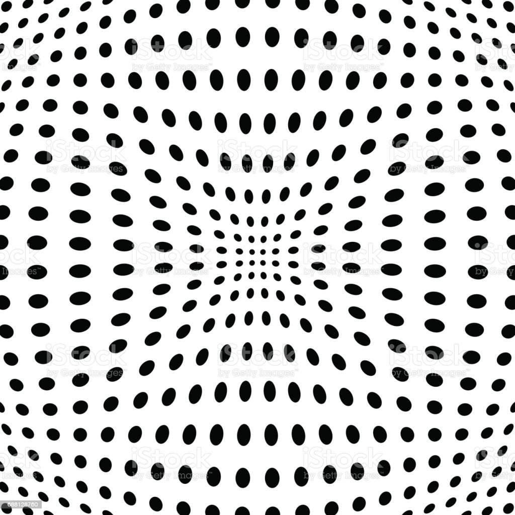 Polka dot pattern with fisheye effect. Vector illustration vector art illustration