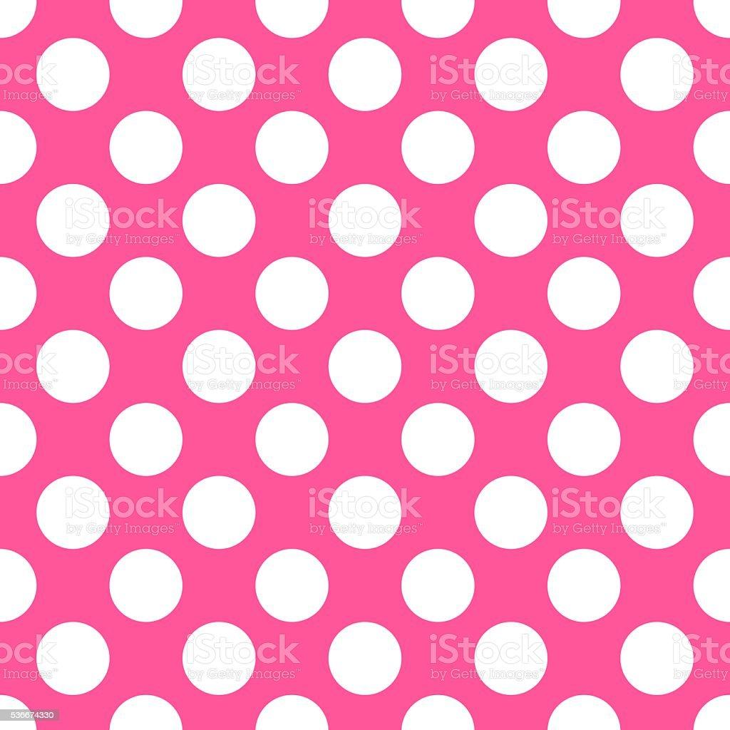 Polka dot pink pattern. Vector illustration vector art illustration