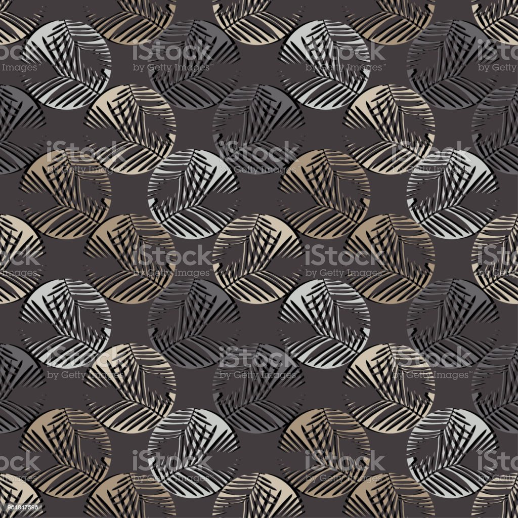 Polka dot seamless pattern. Halftone. Texture of palm leaves. Textile rapport. royalty-free polka dot seamless pattern halftone texture of palm leaves textile rapport stock vector art & more images of abstract