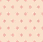 polka dot seamless pattern in pastel rose color