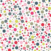 Polka dot seamless pattern in vintage colors