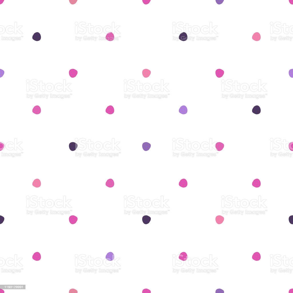 白い背景にポルカドットシームレスパターンかわいい壁紙 お祝いの