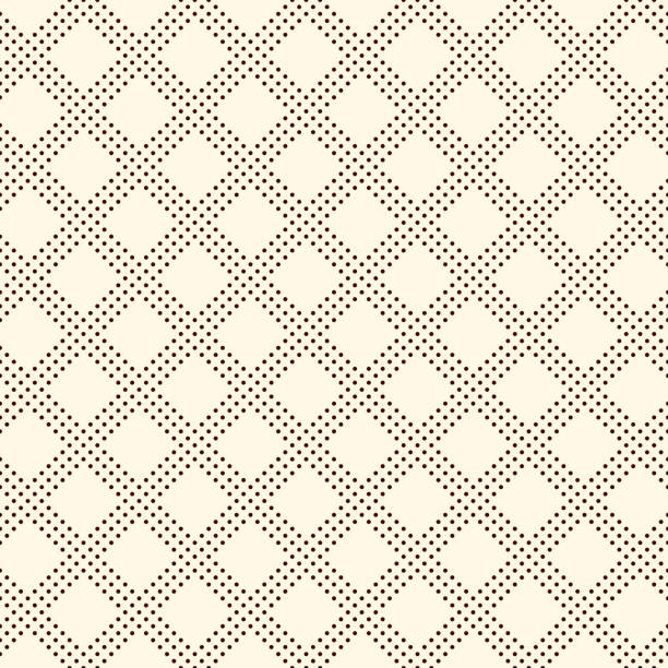 Polka dot seamless pattern. Repeated dotted diagonal stripes texture. Round spots motif. Mini circles abstract wallpaper Polka dot seamless pattern. Repeated dotted diagonal stripes texture. Round spots checked motif. Mini circles abstract wallpaper. Simple minimalist geometric background. Vector digital paper neo classical stock illustrations