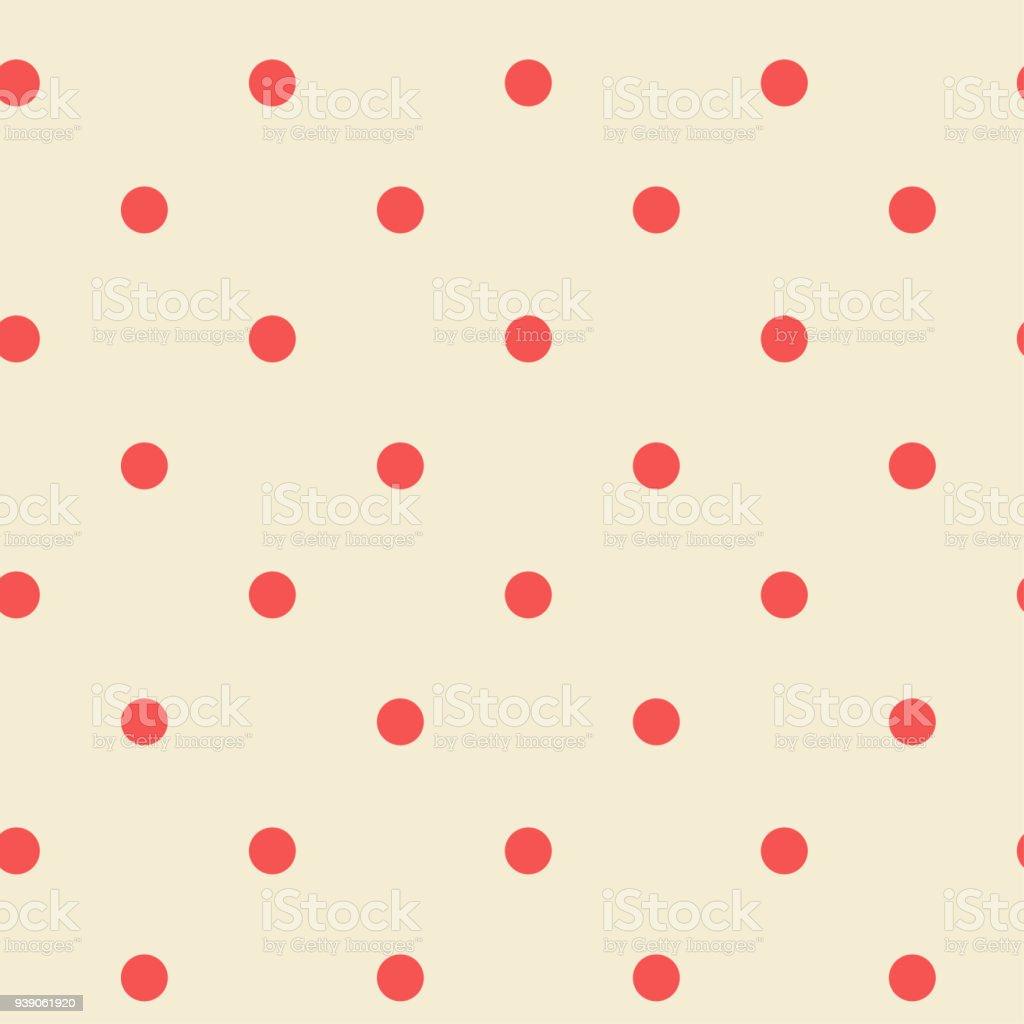 Ilustración de Patrón Transparente De Lunares Retro Colores Pastel ...