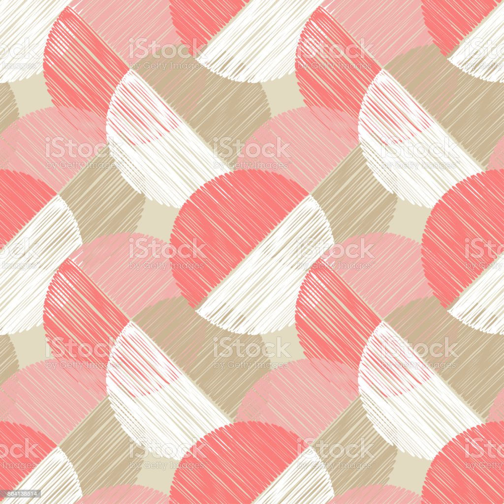 Polka dot seamless pattern. Scribble texture. Textile rapport. royalty-free polka dot seamless pattern scribble texture textile rapport stock vector art & more images of abstract