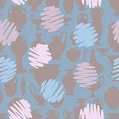 istock Polka dot seamless pattern. 1223660881