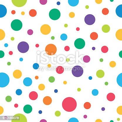 Polka dot seamless pattern,vector illustration. EPS 10.