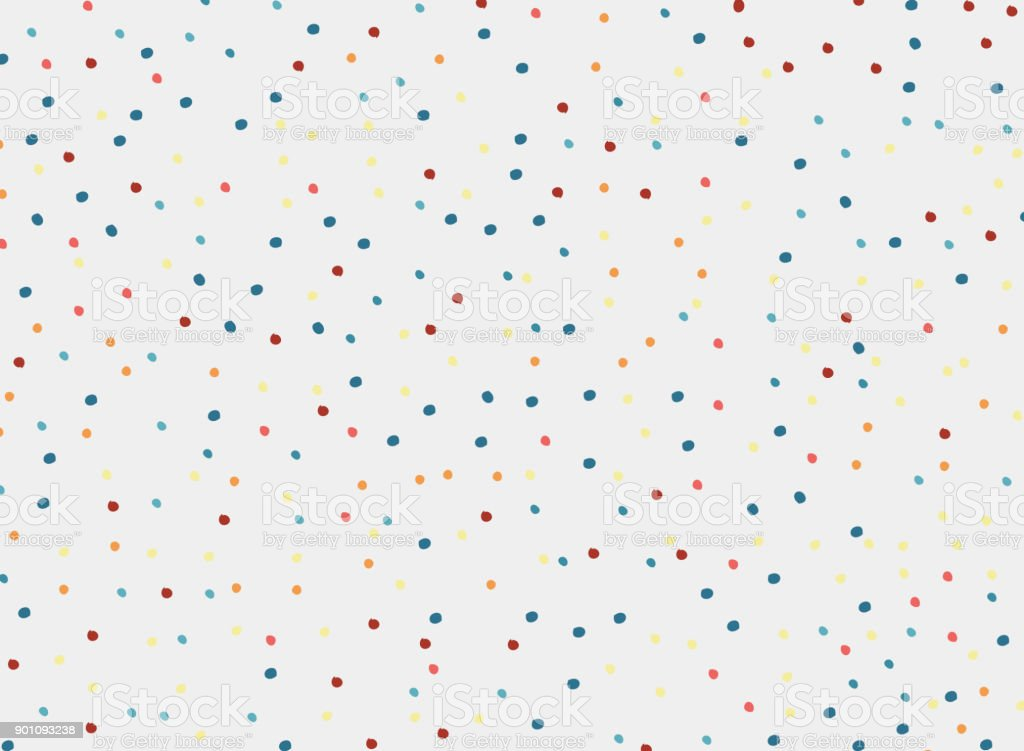 polka dots colorful pattern on white background and texture. vector art illustration