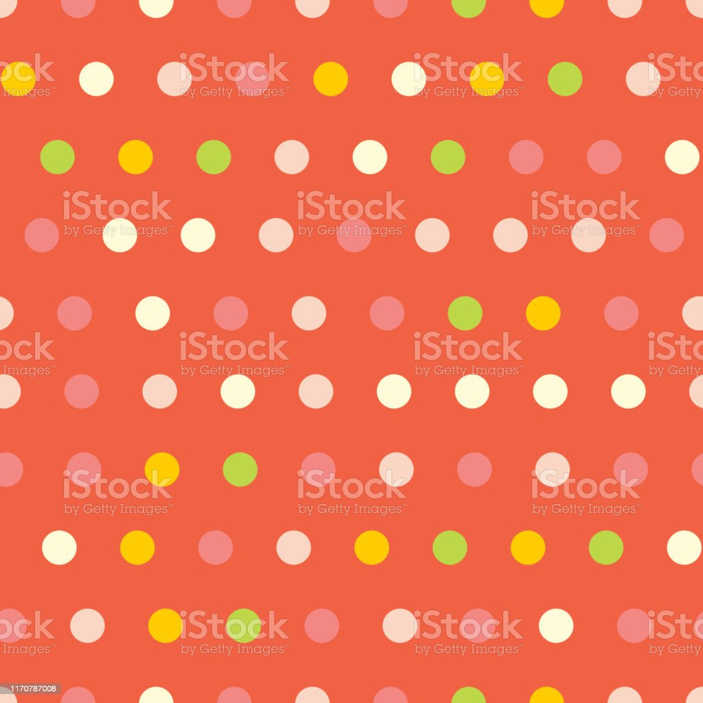Polka Dots Seamless Vector Pattern On Red Background Stock Illustration Download Image Now Istock