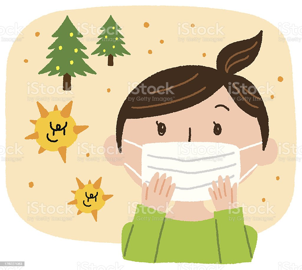 pollen prevention vector art illustration