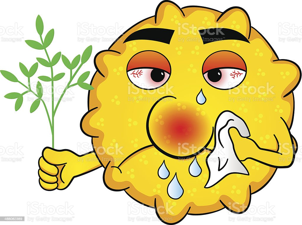 pollen with hay fever royalty-free stock vector art