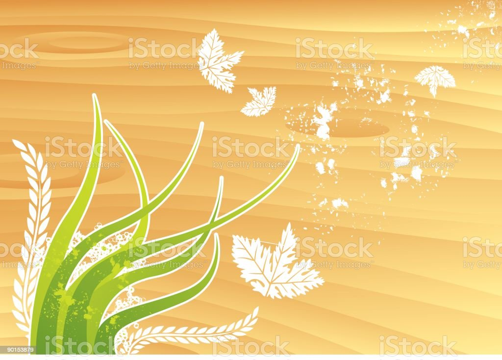Pollination in the breeze royalty-free stock vector art