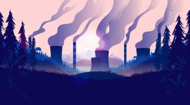 ilustrações de stock, clip art, desenhos animados e ícones de pollution landscape - alter do chão