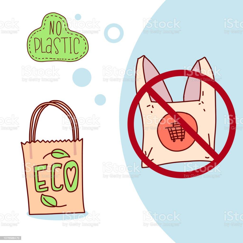 Ilustración De Concepto De Problema De Contaminación Decir No A Las