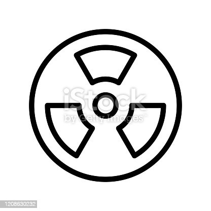 pollution related nuclear for pollution vector in lineal style