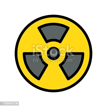 pollution related nuclear for pollution vector with editable stroke